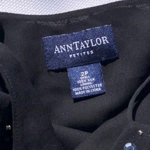 Ann Taylor Tops - Ann Taylor black beaded crop top
